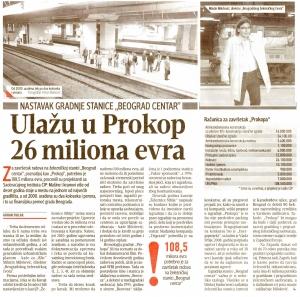 Direktor Beogradčvora d.o.o. Milutin Milošević za BLIC o nastavku gradnje stanice Beograd Centar