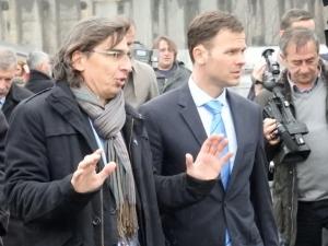 Poseta gradonačelnika Beograda i generalnog direktora Železnice Srbije gradilištu